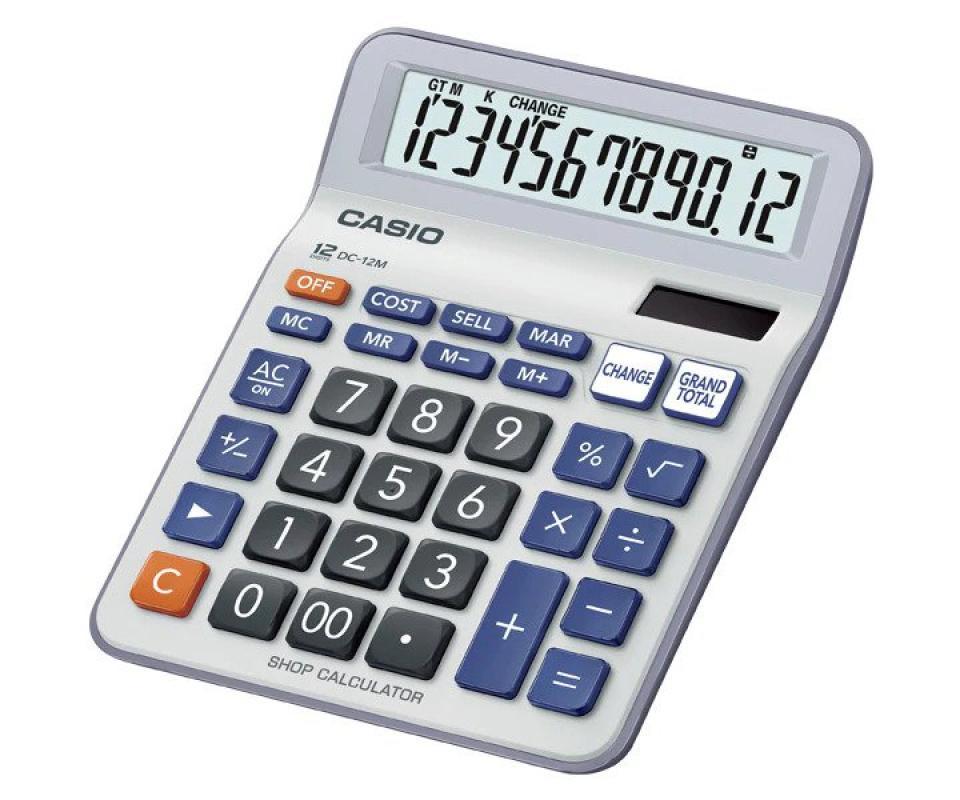 Jual Casio Dc 12m Easy Press Shopping Calculator 12 Digit Terbaru Juni 2021 Blibli