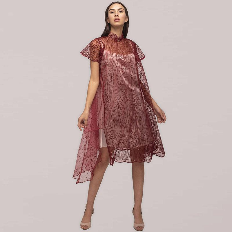 Atelier Mode Cocktail Embroidered Tulle Organza