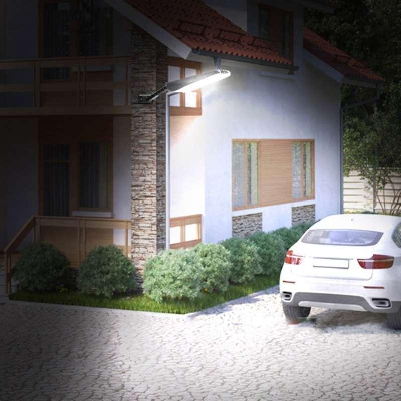 Jual Alloet Lampu Outdoor Taman Solar Power Sensor Gerak Waterproof 66 Led 1000 Lumens Le66 Black Online Maret 2021 Blibli