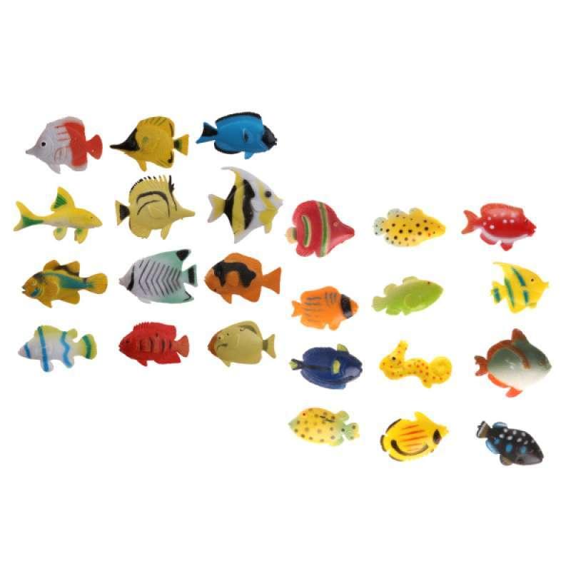 Jual 24x Plastic Tropical Angel Fish Sea Animals Small Figure Toy Ocean Creatures Online September 2020 Blibli Com
