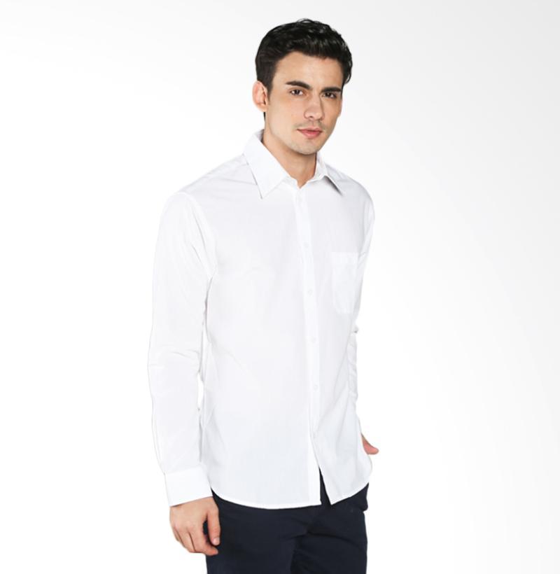 A&D Fashion Long Sleeve MS 1616-581 Kemeja Pria - White