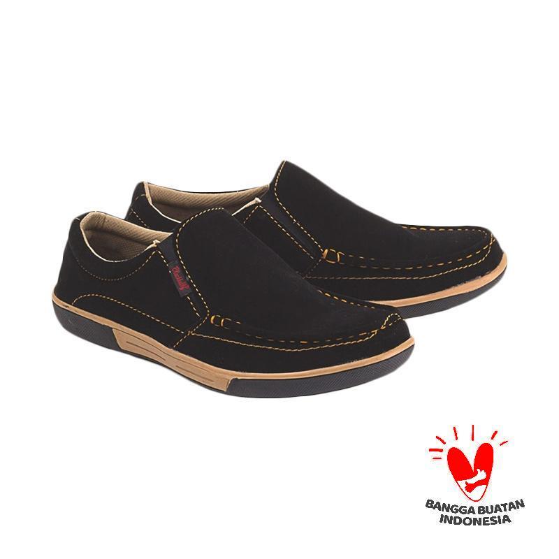 Blackkelly LIV 413 Slip On Sepatu Pria - Hitam