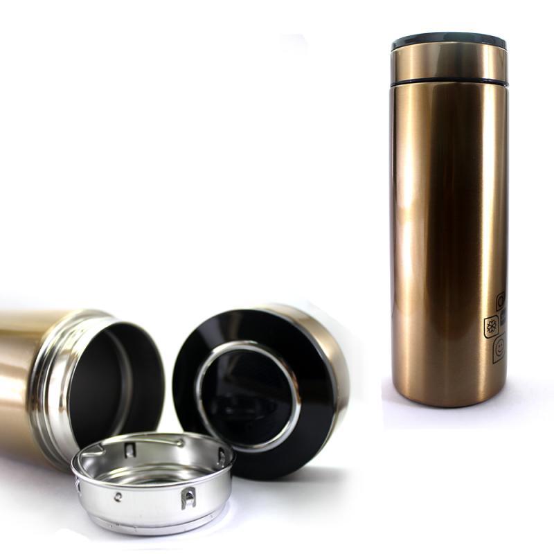 Enandem Healthy Choices Elegant Tumbler Thermos - Gold