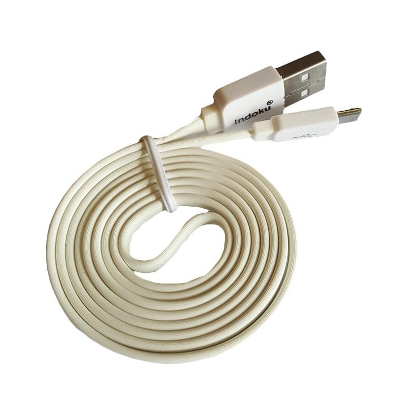 Indoku Cable Data Micro USB - Putih [Loose Pack/ 1 M/2 A]