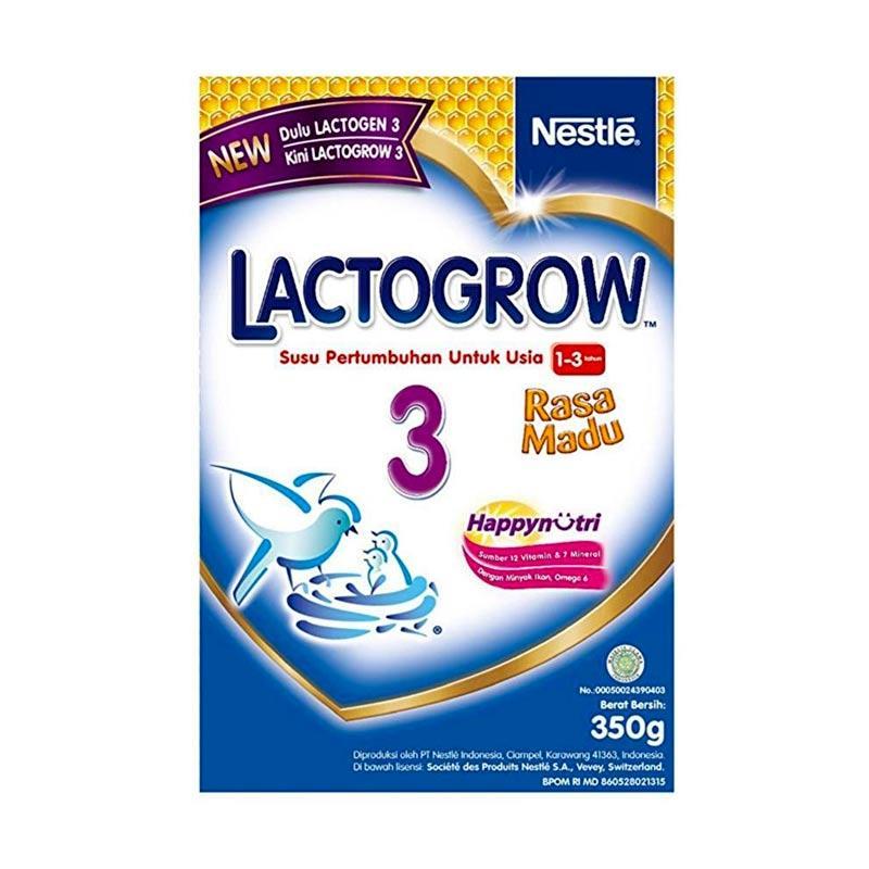 Nestle Lactogrow 3 Happynutri Susu Pertumbuhan - Madu [350 g]