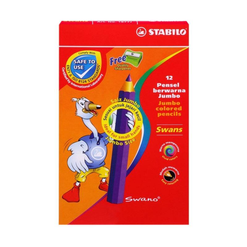 Stabilo Swans Jumbo Color Pencils Set [12 pcs]