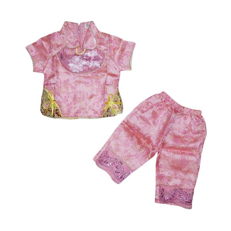 Wonderland Imlek Setelan Pakaian Anak - Pink