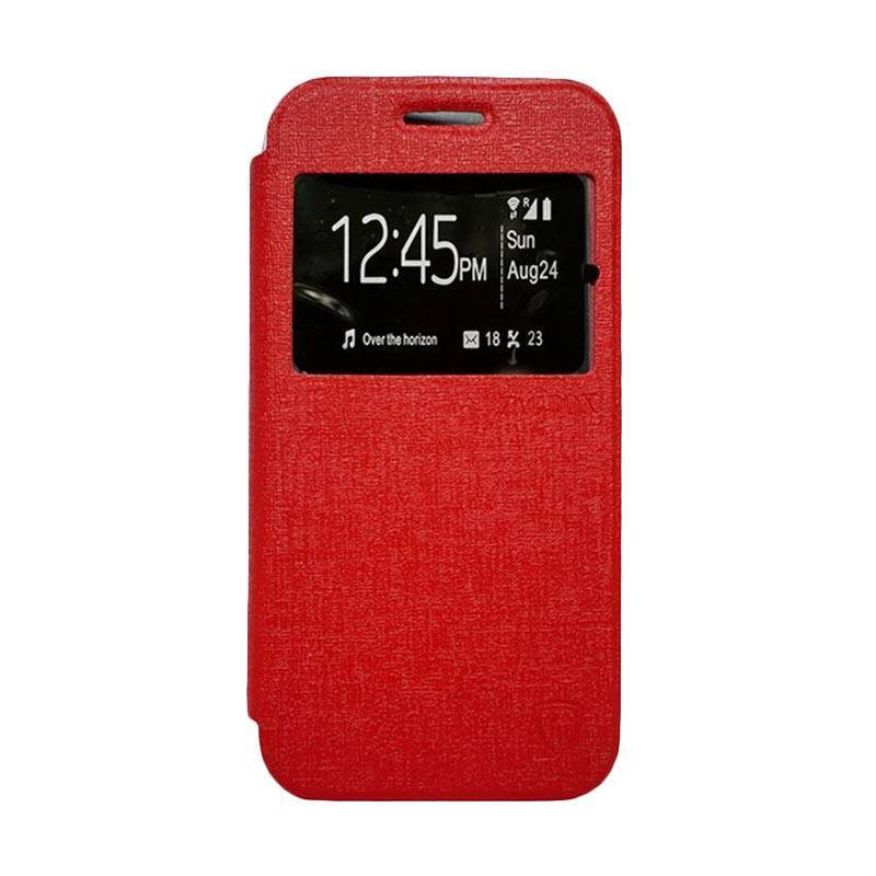 Zagbox Flip Cover Casing for Asus Zenfone 2 5.5 ZE550ML - Merah