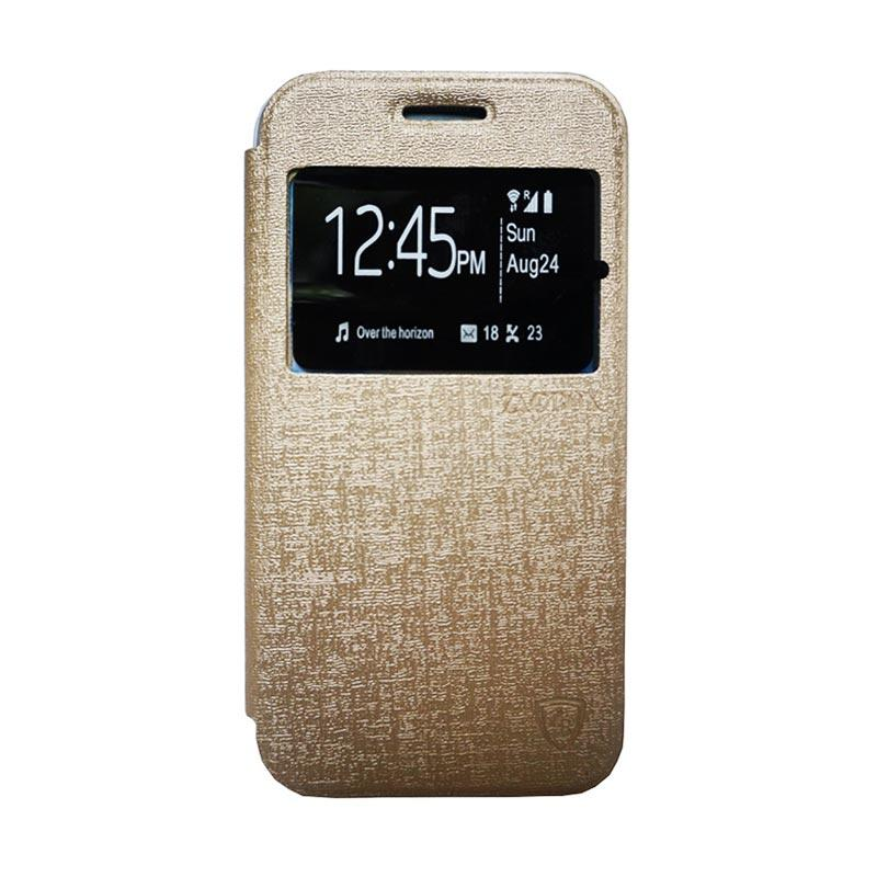 Zagbox Flip Cover Casing for Samsung Galaxy Note 7 - Gold