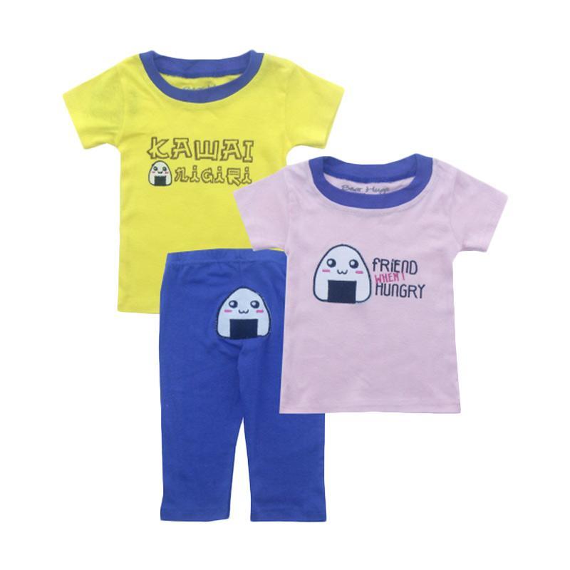 Bearhug Kawai Set Pakaian Bayi Laki-laki - Kuning [3 Pcs]