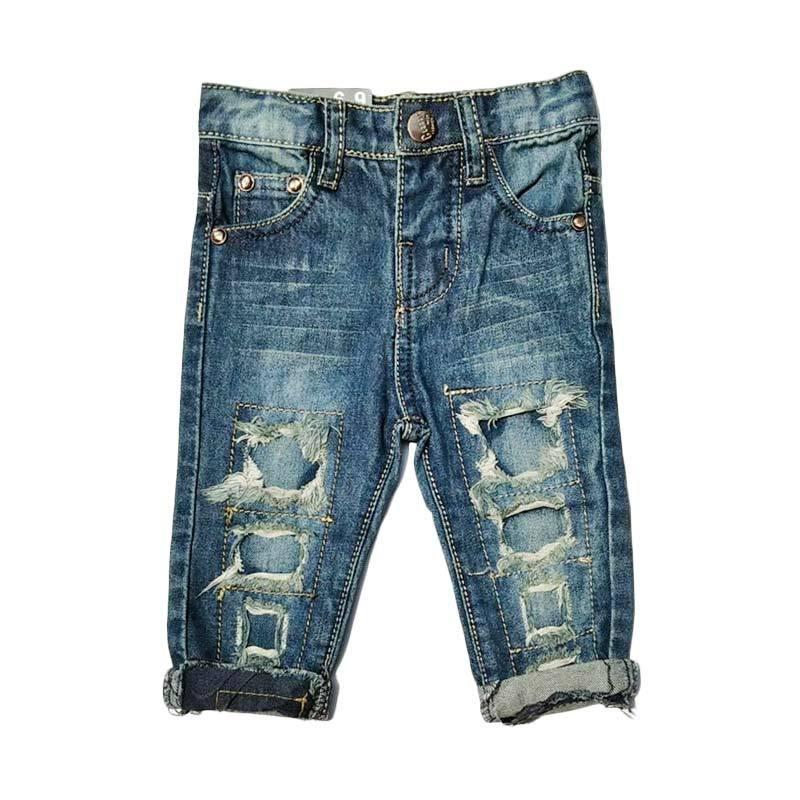 Chloebaby Shop f1051D Celana Ripped Jeans Anak