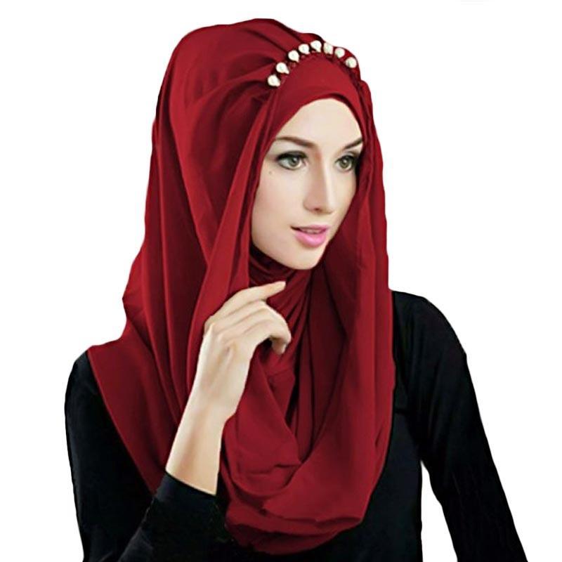 Kus Group Hijab Deeja Pearly Bergo - Maroon