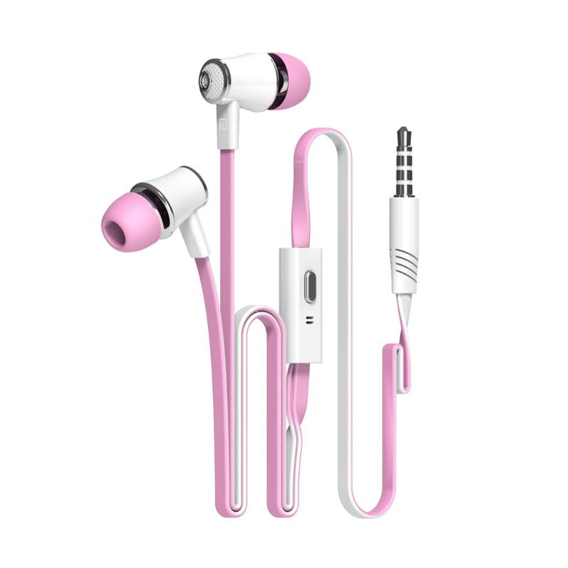 Langsdom Jm21 Earphone with Microphone - Pink
