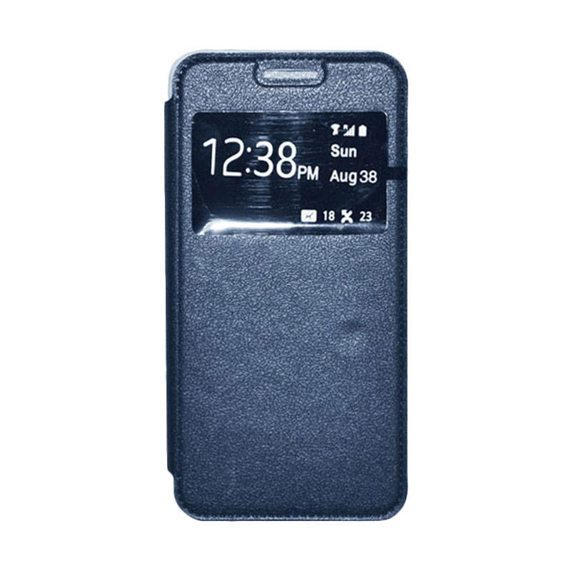 OEM Leather Book Cover Casing for Xiaomi Mi4i - Navy