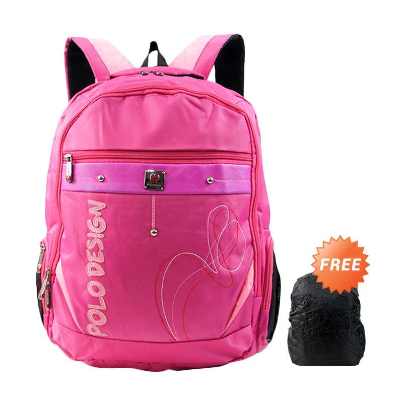 Polo Design PX1-21003L Backpack - Pink + Free Rain Cover
