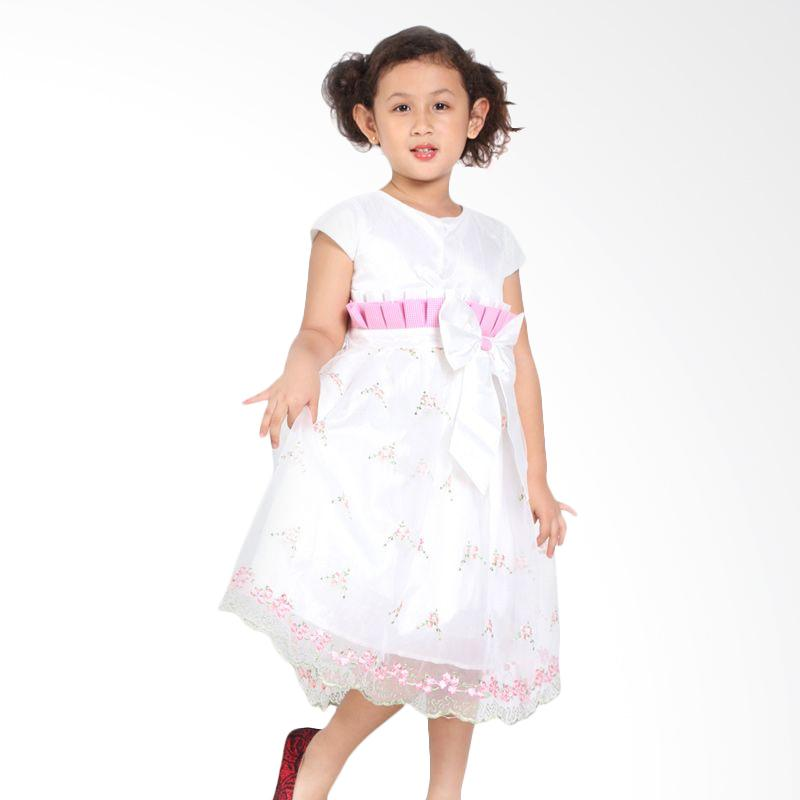 Pretty Girl ESTELLA Dress Anak - White