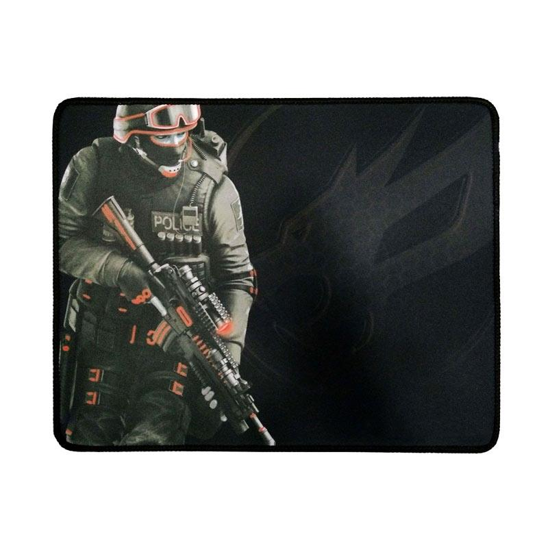 Warwolf Army Gaming Mouse Pad - Merah [Size M]