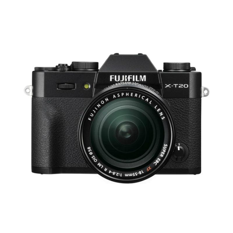 FUJIFILM X-T20 KIT LENS 18-55 MM BLACK + FREE INSTAX SHARE SP-2 + BUNDLING FUJINON LENS 35 MM F2.0