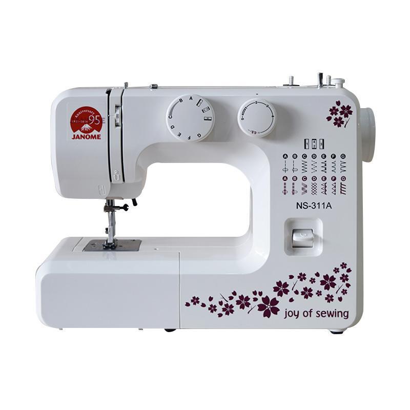 harga Janome NS-311A Multifungsi Mesin Jahit Portable - White Blibli.com