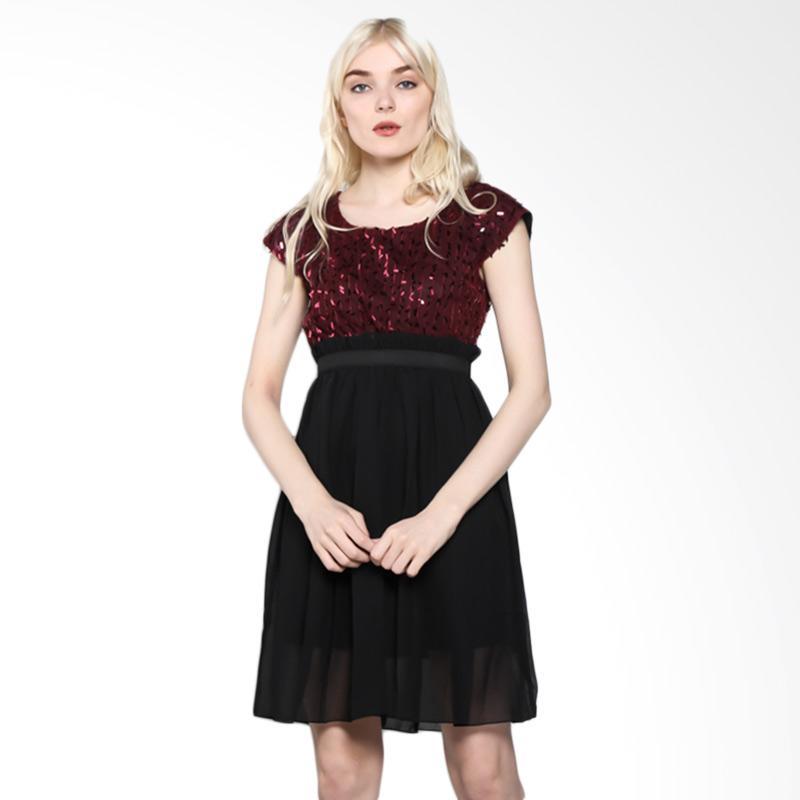 harga Nulu Layla NL 796 Dress Wanita - Maron Blink-Blink Blibli.com