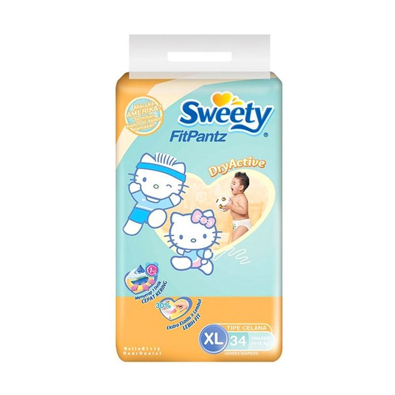 Sweety Fit Pantz Popok Bayi [Size XL/34 pcs]