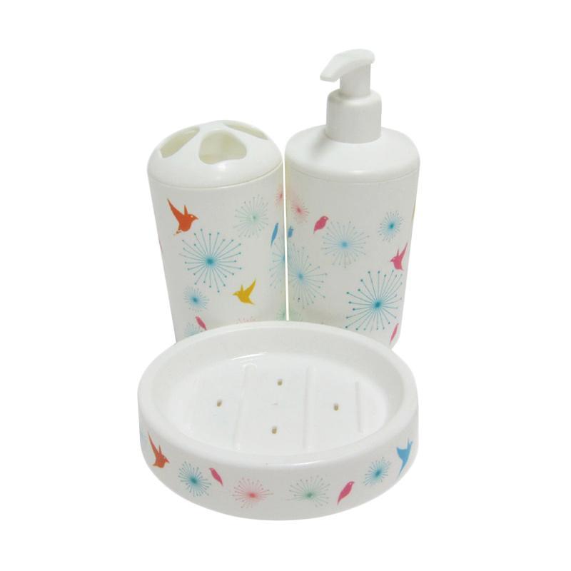 TITIZ Trendy Washstand Wrapped Burung Set Aksesoris Kamar Mandi - Biru