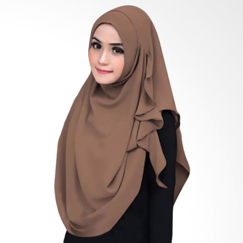 Kus Group Hijab Instant Flowing - Brown