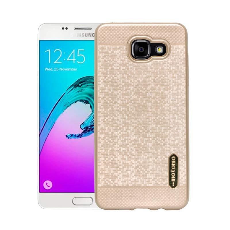 Motomo Softcase Casing for Samsung A5 2016 A510 - Gold