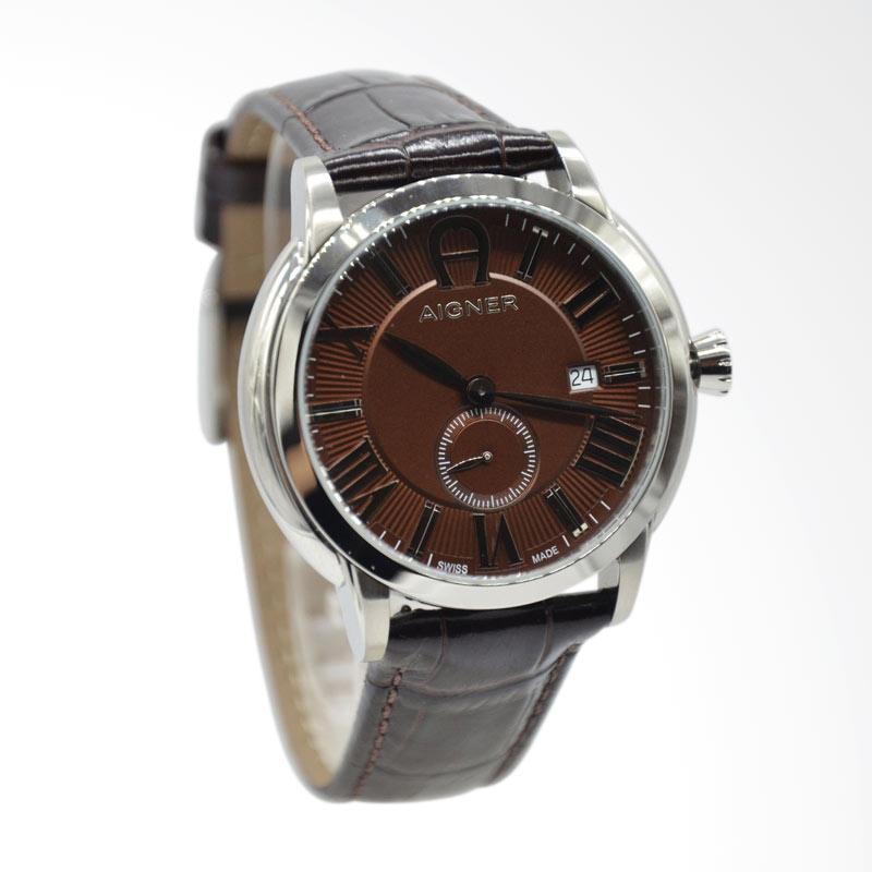 Aigner Portici Jam Tangan Pria - Brown Silver A24040C