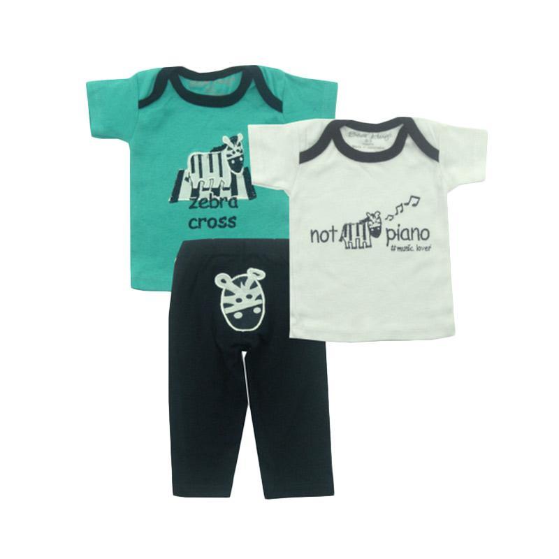 Bearhug Zebra Set Pakaian Anak Laki-laki [3 pcs] - Hijau