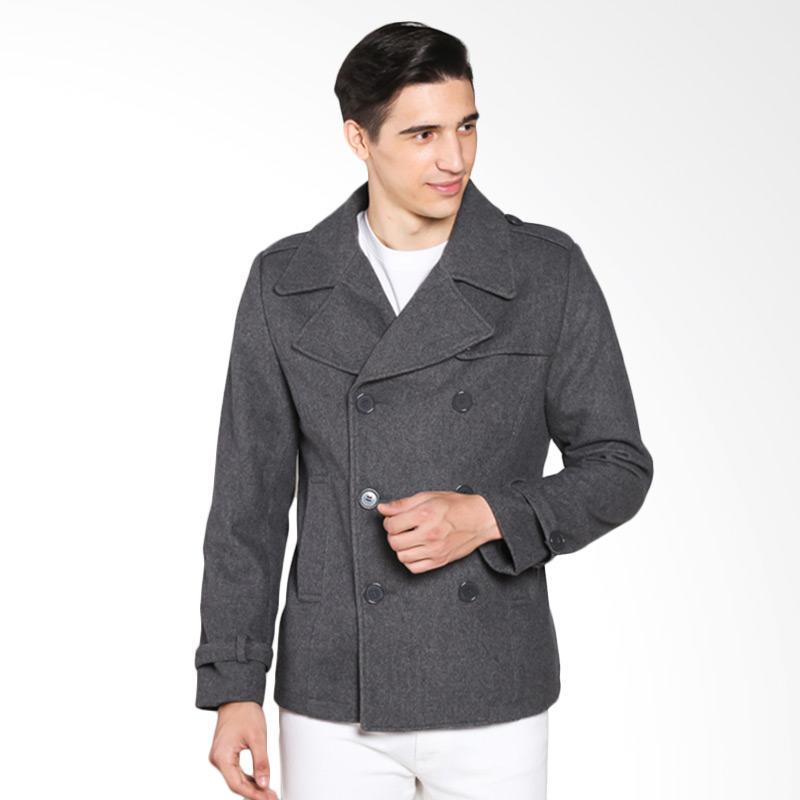 harga COLDWEAR 15654 Trench Coat Jacket Pria - Ligth Grey Blibli.com