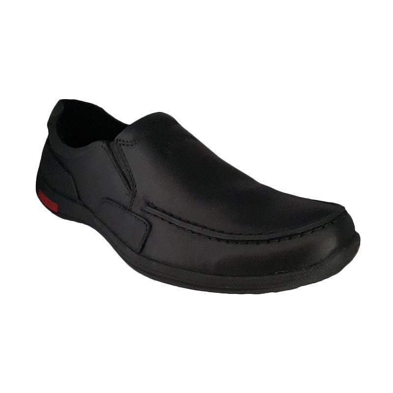 Handymen Formen FM 02 Kulit Dress Loafers Sepatu Pria - Black