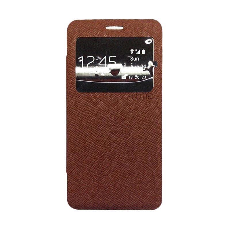 UME Flip Cover Casing for Zenfone 3 Max ZC520TL - Coklat