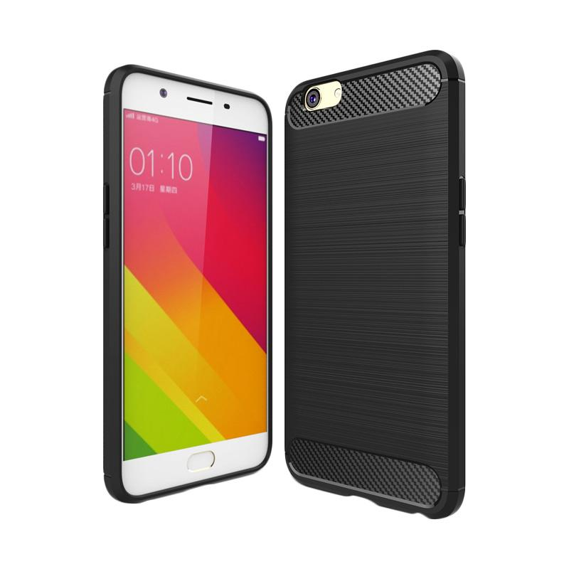 Ipaky Slim Rugged Casing for OPPO F1S / A59 - Black Carbon