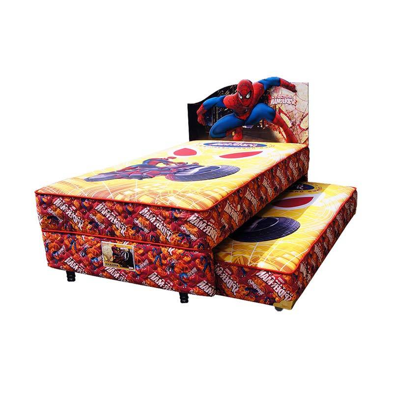 harga FCENTER Bigland 2in1 Sorong Spiderman Set Springbed [Full Set] Khusus PULAU JAWA*) Blibli.com
