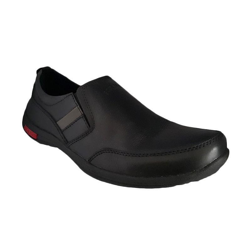 Handymen Formen FM 03 Kulit Dress Loafers Sepatu Pria - Black
