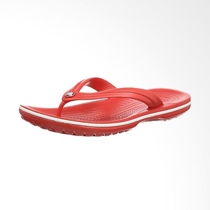 Crocs Flip Unisex Sandal Jepit Flamingo CR110338 - Red