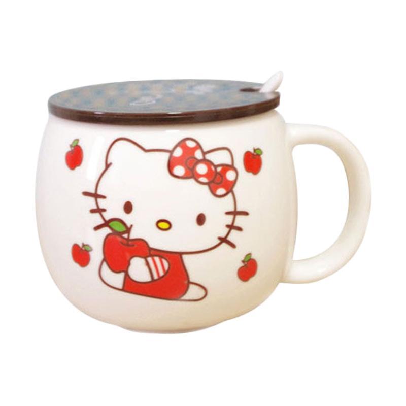 Hello Kitty HK Apel Cangkir - White Red [300 mL]