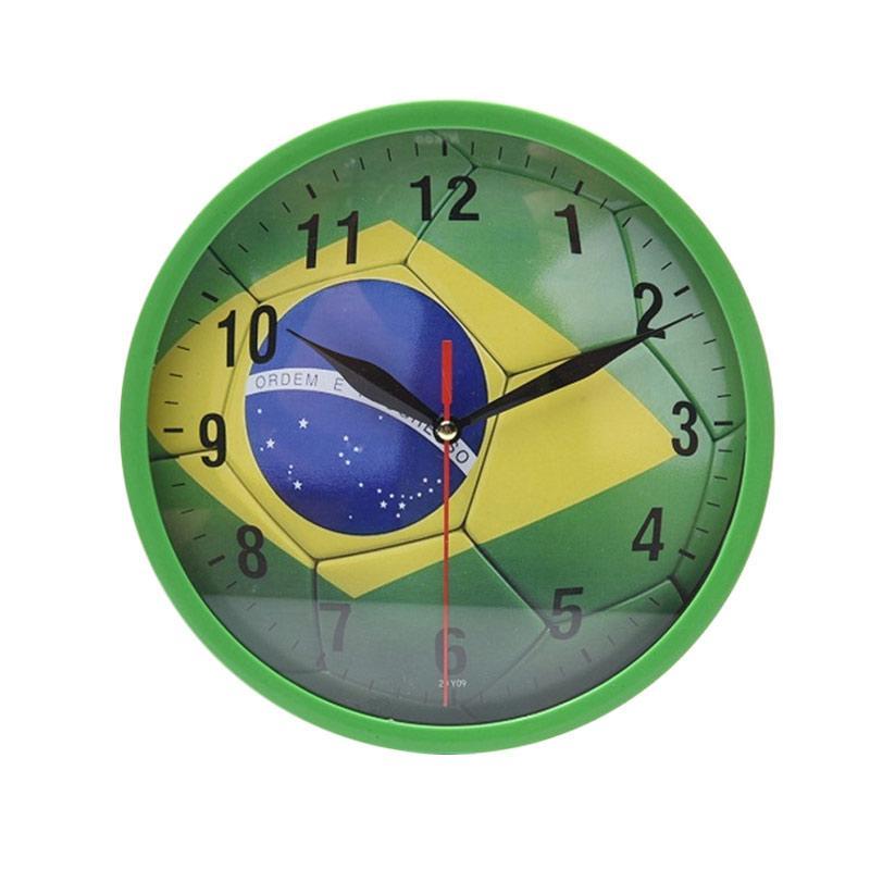 Miracle Club Bola Brazil Jam Dinding - Ring Hijau [20cm]