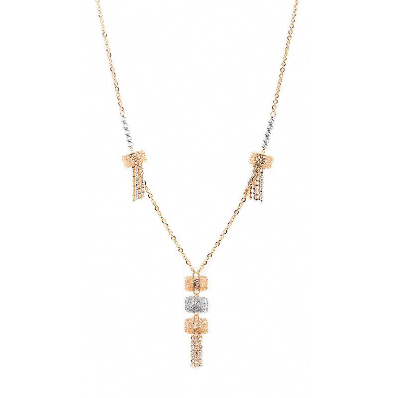 Cage Drop Gold Necklace - Kalung Emas Kadar 75