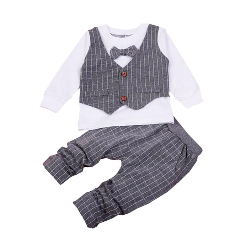 Chloe Babyshop F963 Toxedo 2in1 Kotak - Grey