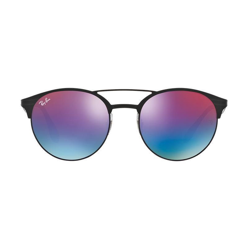 Ray-Ban Rb3545 Sunglasses - Black Matte Black [186-B1/Size 51/Gradient Blue]