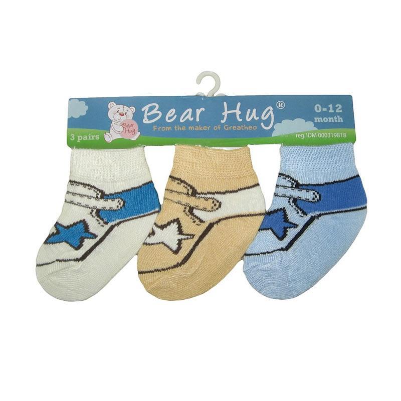 Bearhug 3 Pairs Sock For Baby Boy - Multi Colour