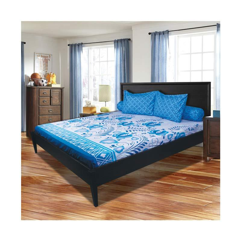 My Love Motif Royal Blue Set Sprei [180 x 200 x 22.5 cm]