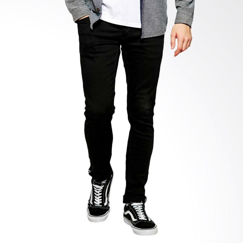 Underpego Nakent Skinny Jeans Pria - Hitam