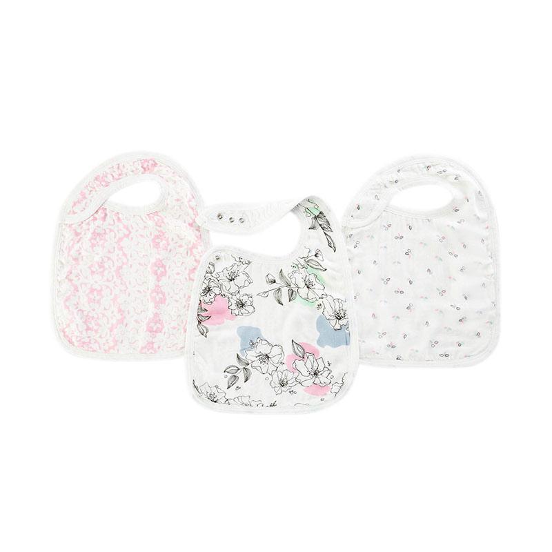 Aden+anais - 3-Pack Silky Soft Snap Bibs - Meadowlark - Slabber Bayi dan Anak
