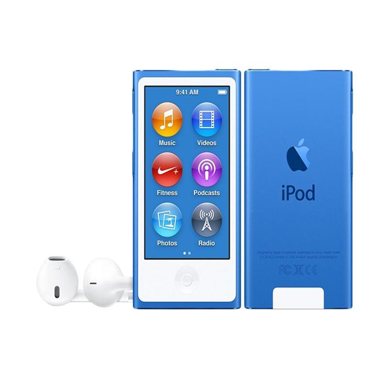 harga Apple iPod Nano 7th Gen 16 GB Portable Player - Blue Blibli.com