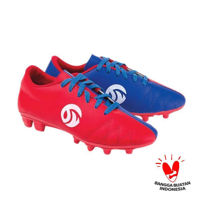 Blackkelly FOLSENINE Sepatu Sepakbola - Red Blue LEF 913