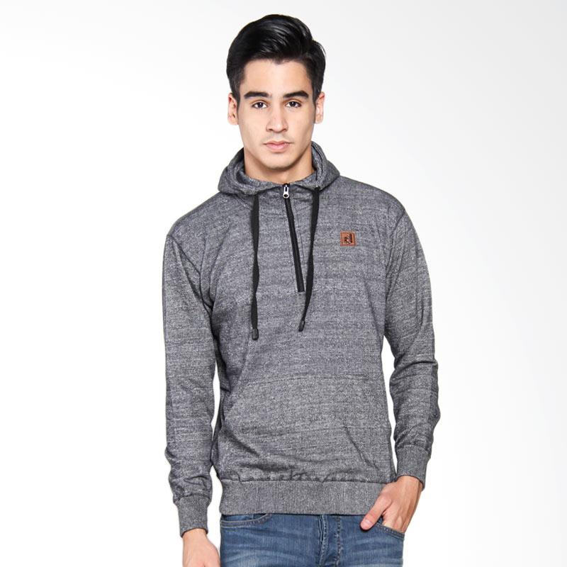 Dreacot Half Zipper Misty Sweater Pria - Black