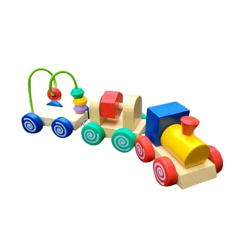 Istana Bintang Kereta Imut Kayu Mainan Edukasi Anak